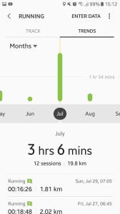 Data Berlari Bulan Juli